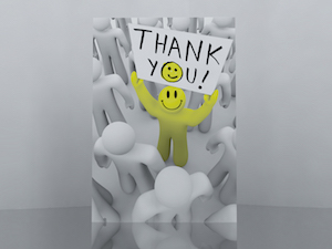 video greeting card manufactuing thank you