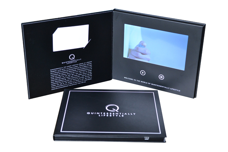 Hardbound Video Book With LCD Monitor Panels Innovative Advertising