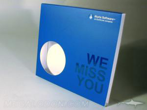 cd slipcase die cut circle window hole