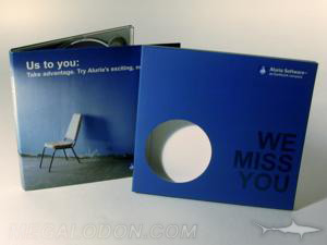 cd slipcase die cut window round