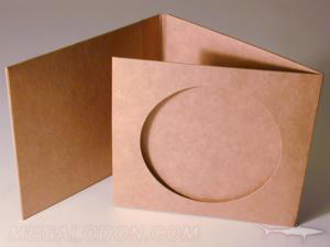 cd jacket die cut hole fiberboard stock