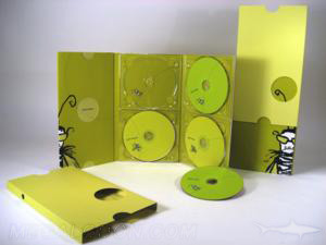 Slipcase die cut 4 disc set 6pp MegaTall digipak