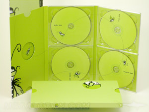 multi-disc 4dvd set manufacturing and packaging with die cuts trays booklet and slipcase