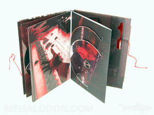 custom dvd book 2disc packaging custom string tie