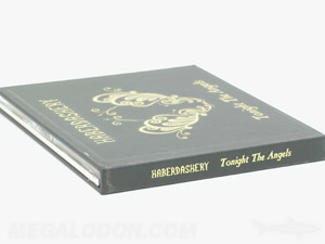 CD Hard Bound Book showing gold foil on spine