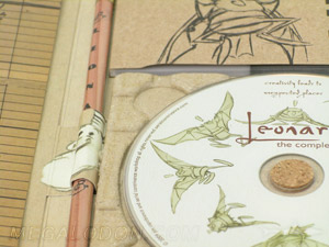 Eco Friendly DVD Packaging with Paper Tray, 100% recycled paper and cork hub