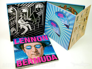 Custom CD Packaging LP Box Set Lennon 2cd perfect bound book