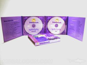 2cd packaging 8pp with two clear trays 8 panel double disc