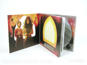 CD DVD book cover packaging with perfect bound booklet