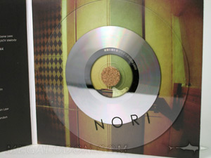cork hub cd packaging with clear substrate cd