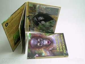 DVD book packaging with tray and inner booklet