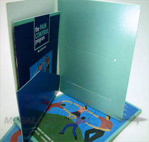 Oversized CD Folder portfolio to hold letter sized workbook 2 discs