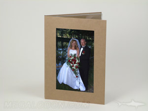 Unprinted Fiberboard CD DVD Pacakging with Photo Cutout Window, Photographer Pacakge, easily customized