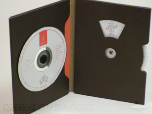 custom cd dvd packaging die cut spin wheel fiberboard stock