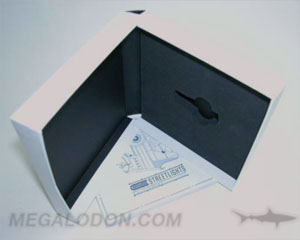 USB boxes chipboard packaging foam insert for thumb drive perfect bound book set