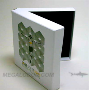 usb chipboard box packaging foam insert 6x6