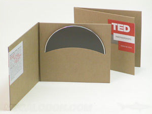 cd jacket curved pocket fiberboard paper stock