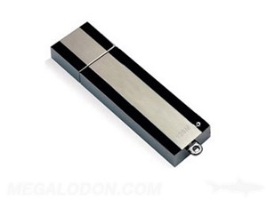 black and silver usb drive