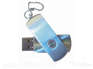 metal usb swivel thumb drive with chain