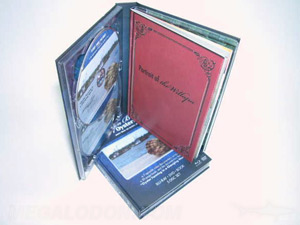 DVD book hardcover 4 disc set double disc trays