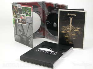 CD Manufacturing, Large Quantity, Project: Atticus - 6pp tall digipak 2cd slipcase matte lam spot gloss