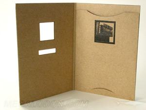 Die cut dvd jacket fiberboard paper customized with insert