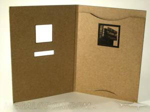 custom die cut fiberboard jacket cd dvd business card literature
