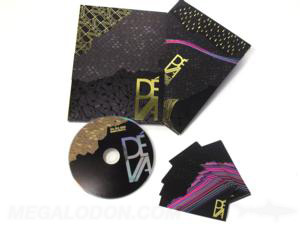 Foiled slipcase set cd dvd spot uv gloss embossed