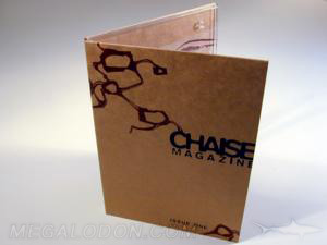 Fiberboard digipak with clear tray