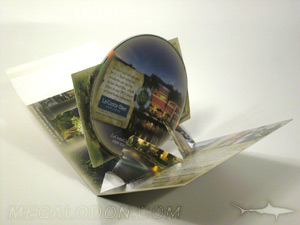 Promo CD Packaging pop up disc mailer with card