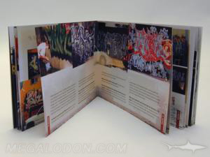 wide digipak with perfect bound book