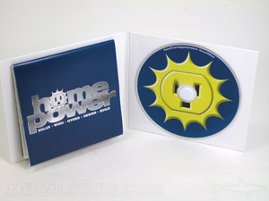 cd jacket white foam hub folded poster