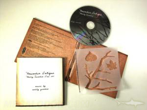 Custom CD jacket packaging set recycled uncoated stencil booklet