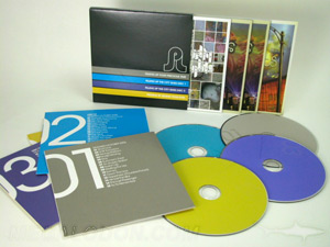 CD slipcase set 4 disc jackets