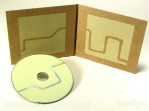 CD jacket packaging printed fiberboard pantone disc knockout