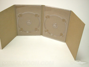 unprinted fiberboard digipack 8pp two trays