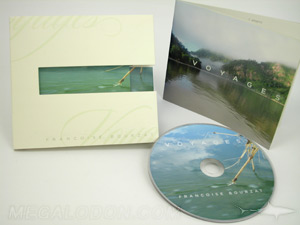 CD jacket booklet custom diecut