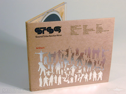 silver foiling fiberboard cd dvd packaging