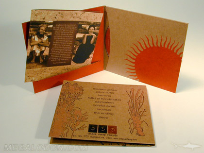 fiberboard paper jacket cd packaging