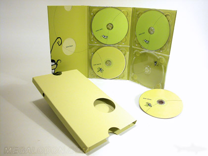 Tall Slipcase for 10inch dvd packaging die cut hole