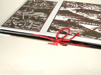 Cloth DVD book with string tie binding cloth fabric wrapped