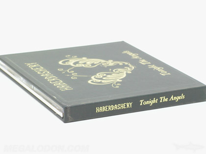CD Book Packaging Hard Bound Book showing gold foil on spine