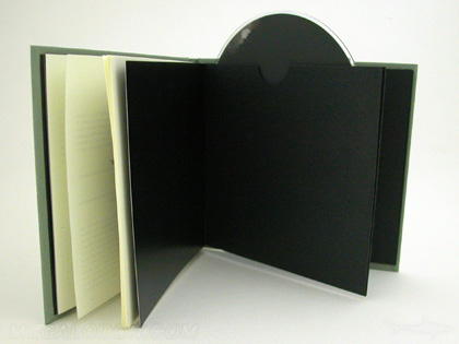 linen dvd book with swinging sleeve fabric linen wrapped