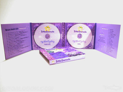 2 CD Eco Packaging 8 panel tray pack recycled paper soy inks