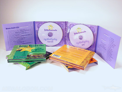 2cd set collection slipcase with 3 volumes 8pp traypack packaging with recycled paper soy inks