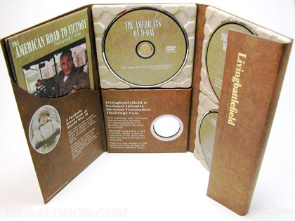 multidisc set with eco friendly dvd packaging using 100% recycled paper trays