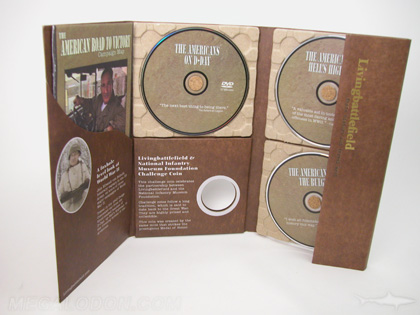 custom dvd set packaging with paper trays