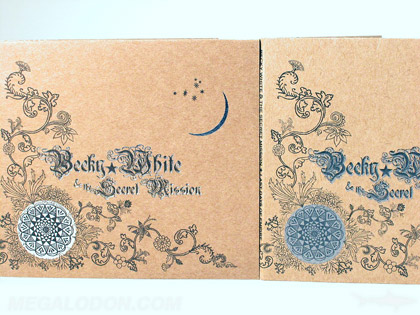 comparing silver foil to metallic silver ink on fiberboard cd jacket packaging