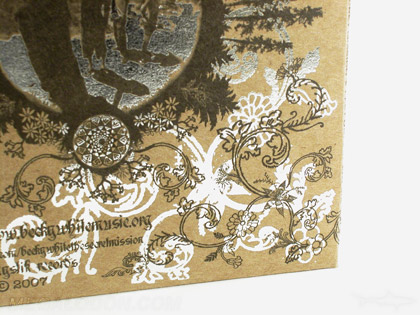siberboard paper silver foiling foil stamping