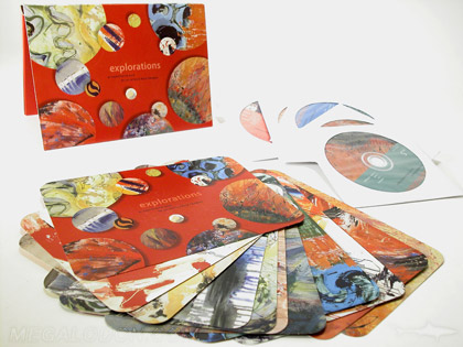CD Box set, 4 discs, portfolio folder with velcro closure packaging, art cards